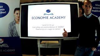 Live uitleg van examendomein D: Markt    Economie Academy | Leren met video