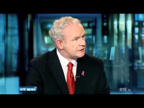 Martin McGuinness on RTE's Six One News