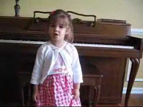 Kaitlyn Maher (@ 3 years old) sings Star Spangled Banner