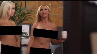 Naked Girls Take Over Boardroom