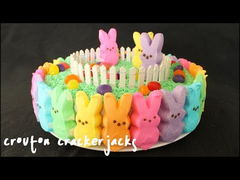 Rainbow Peeps Cake - Szivárvány húsvéti nyuszi torta