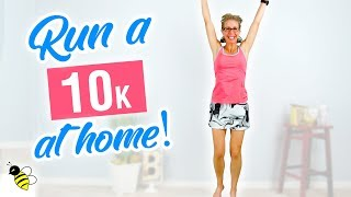 10K (6.2 Miles) Indoor RUN | SIX MILE One Hour RUNNING at Home Workout