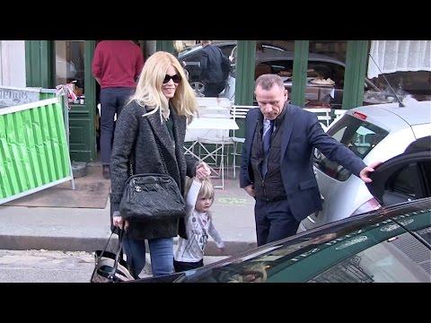 EXCLUSIVE - Claudia Schiffer and daughter Cosima Violet in Paris