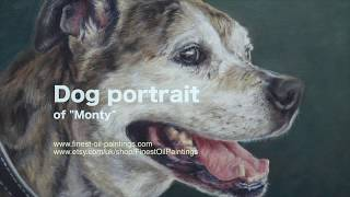 "Dog portrait, oil painting of ""Monty"" time-lapse, speed-painting"