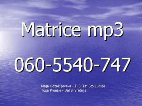 Matrice Mp3    Maja Odzaklijevska - Ti Si Taj Sto Luduje     Tose Proeski - Dal Si Sretnija video