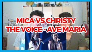 The Voice Teens Philippines Battle Round: Christy vs. Mica - Ave Maria REACTION