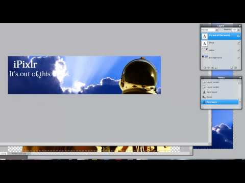 Pixlr Tutorial: How to Make a Banner (using layers, style options, and free transform)
