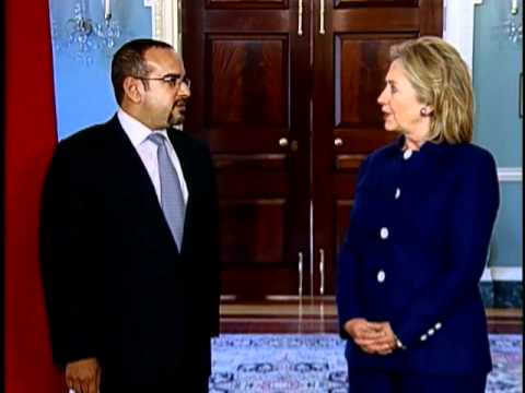 Secretary Clinton Meets With Bahraini Crown Prince Salman bin Hamad Al-Khalifa