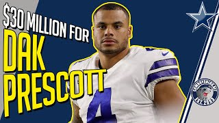 Dak Prescott Contract Talks Approaching $30 Million Per Year