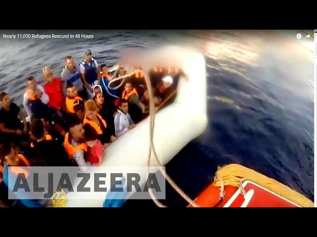 Nearly 11,000 Refugees Rescued in 48 Hours