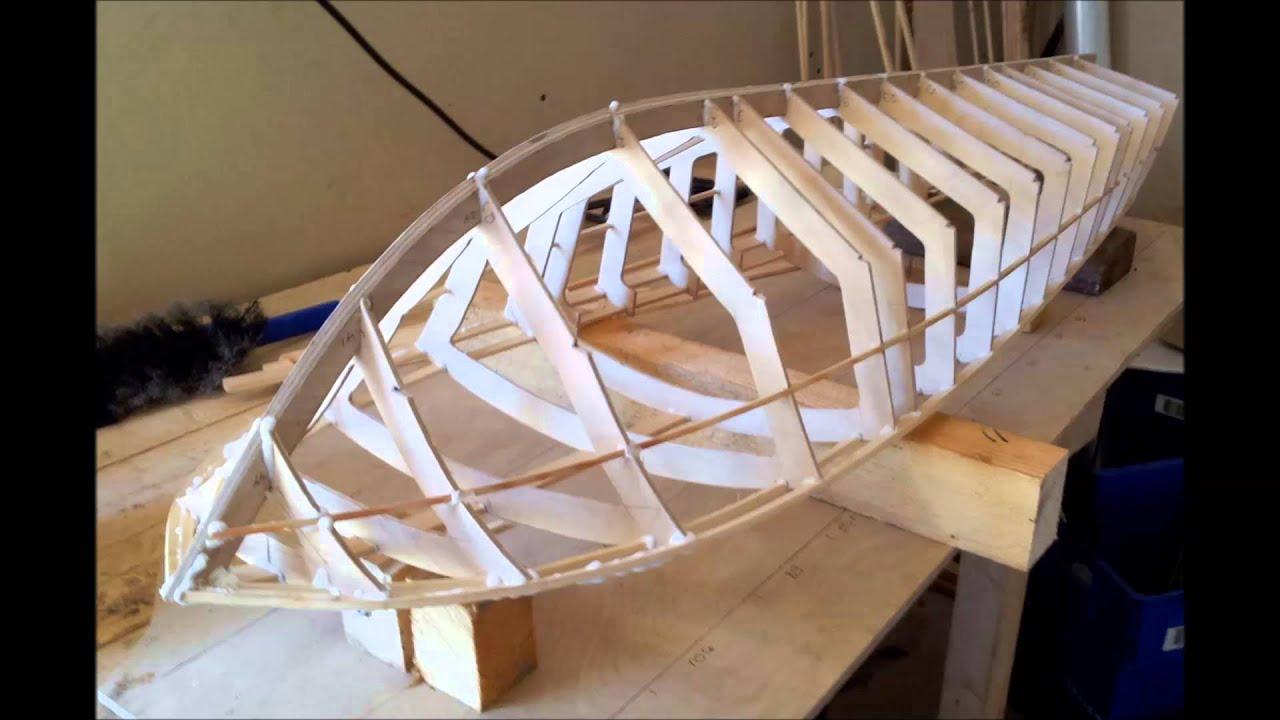 RC 49 inch Riva Aquarama Boat Build Part 1 - YouTube