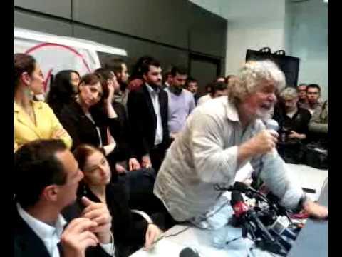 Beppe Grillo, conferenza stampa 21 Aprile 2013 – Integrale