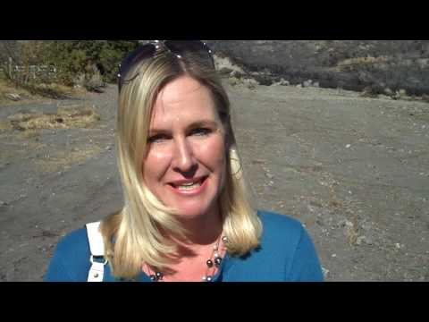 Veronica from CaliforniaTravelTips at Wyatt Earp Cabin on Clyde Ranch, Wrightwood, California