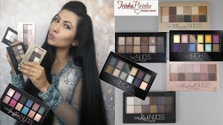 Палетки Maybelline: The Nudes, 24karat, The Blushed, The Rock