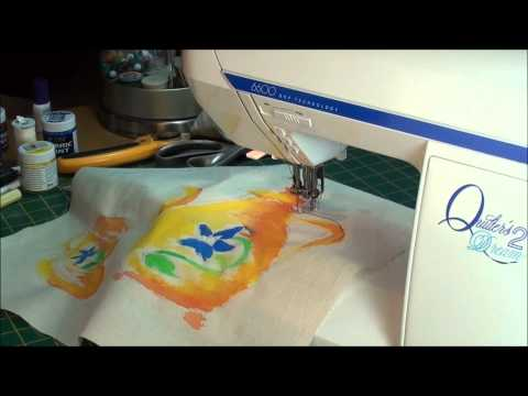 Free motion embroidery, a simple project for a beginner.
