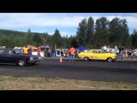 CHEVY IMPALA VS. NOVA BILLETPROOF ERUPTION DRAGS TOUTLE, WA 2013