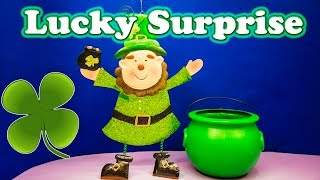 LUCKY SURPRISE The Lucky Surprise Pot of Gold a Candy + Surprise Eggs Video