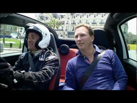 Top Gear guys driving around Horner, Ecclestone and Briatore at Monaco.avi