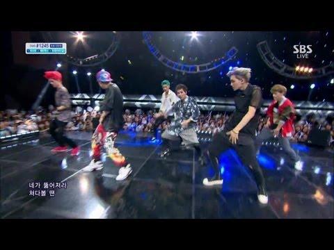 [엑소 Exo] - 으르렁 인기가요 130811 video
