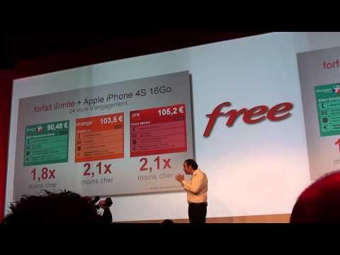 Annonce Free Mobile - Conférence entière de Xavier Niel 10/01/12