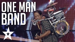 One Man Band Performs Stand By Me On Indonesia 39 S Got Talent Got Talent Global