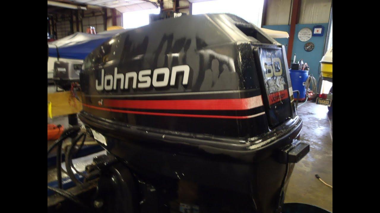 6m8b30f Used 1996 Johnson J50tleds 50hp 2 Stroke Remote