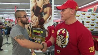 John Cena participates in a Hide and Tweet for Night of Champions Tickets