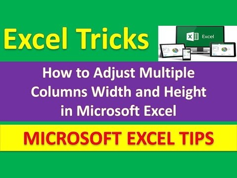 How to Adjust Multiple Columns Width and Height in Microsoft Excel : Excel Tricks [Urdu / Hindi]