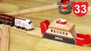 Эпизод 33 : Играем с новым треком БРИО. Деревянная железная дорога Брио , Томас, Чаггингтон