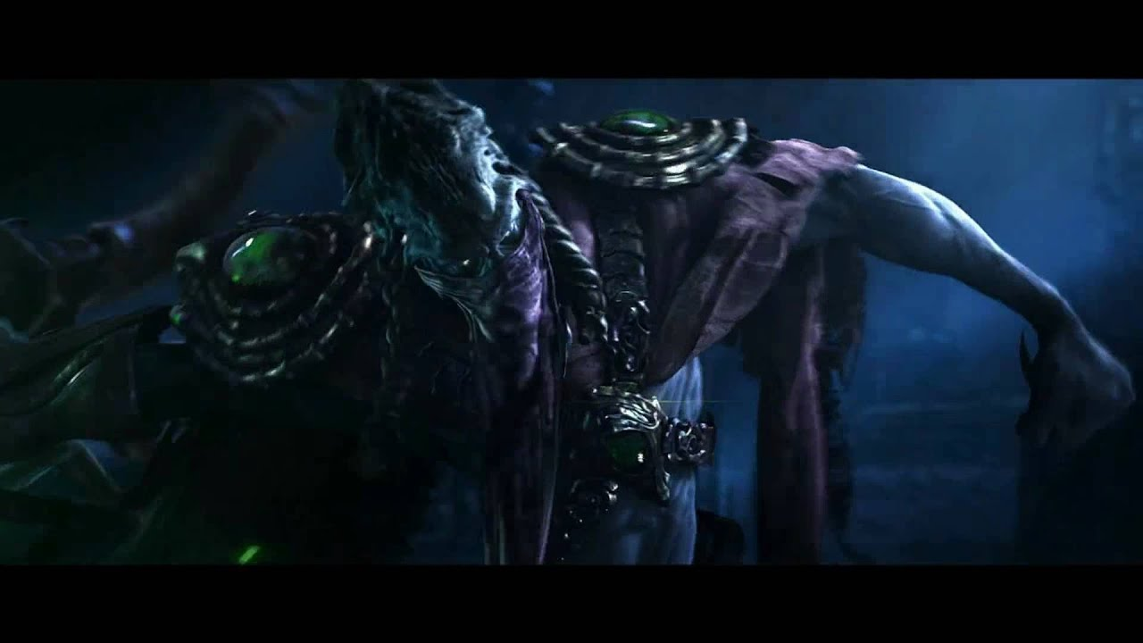 starcraft 2 zeratul and kerrigan duel cinematic in 1080p
