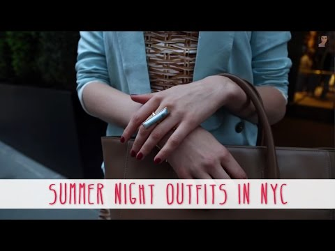 Summer Night Outfits In New York City Featuring Sheena Sujan Barclay Tote! Cassandra Bankson