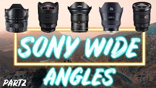 SONY A7iii E-Mount BEST WIDE ANGLE LENSES: Part 2 (2019)