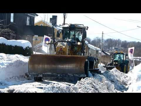 Cat 140M Snow Removal 2