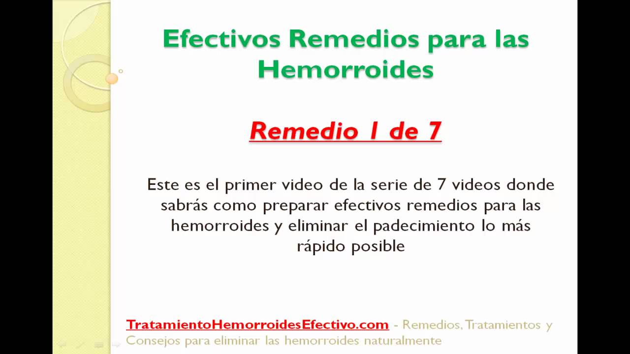 Remedios para las hemorroides - Remedio 1 de 7 para curar
