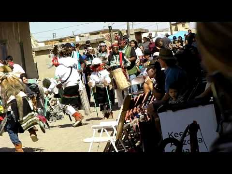 Hopi Harvest Fest Dancing - White Buffalo Dance (Beginning)