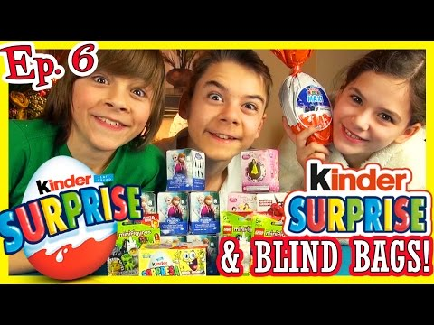 KINDER SURPRISE EGGS! BLIND BAGS! Ep. 6   DISNEY FROZEN PRINCESS ELSA ANNA SPONGEBOB LEGO