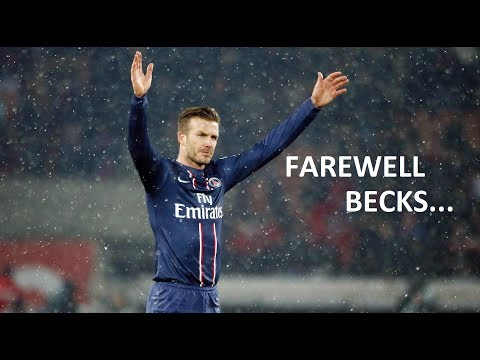 Beckham Crying at His Last Football Match