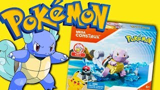 Pokemon Mega Construx Wartortle Toy set opening & review 2017