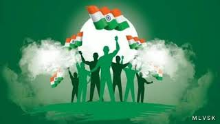Independence Day Flag  Animation Video By M L V S K