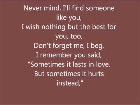 Adele - Someone Like You with lyrics Music Videos