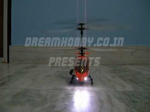 RC Helicopter Big 3 Channel Metal Frame Outdoor with Gyro/Led