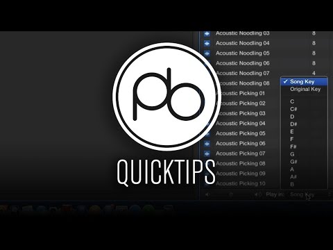 Logic Pro X Quick Tip: Changing the Key of Apple Loops
