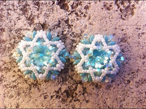Esa - Tiffany    - tutorial beading superduo earrings