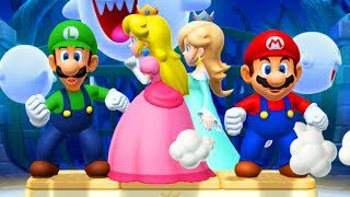 Mario Party 10 - Minigames - Mario vs Rosalina vs Peach vs Luigi (Master CPU)