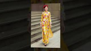 Áo dài Xuân 2018 - Shop Vải Ngọc Cẩm