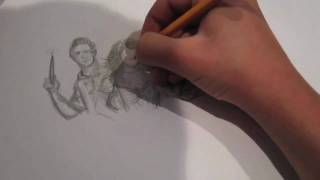 wizards of waverly place speed drawing