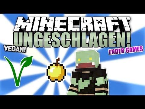 Vegane Runde + OP GOLDAPFEL Minecraft UNGESCHLAGEN #20 Ender Games ungespielt