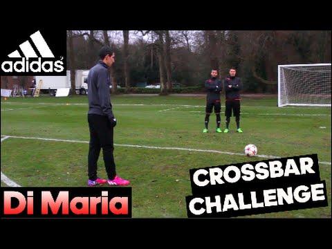Di Maria No-Look Trivela Crossbar Challenge