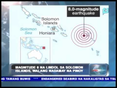 PTV News Break: Magnitude 8 na lindol sa Solomon Islands, walang nadamay na pinoy
