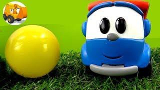 Leo el Pequeño Camión y Rayo McQueen juegan a fútbol